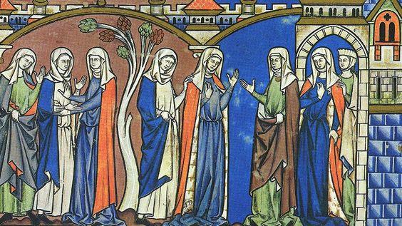 """נשים ימיביניימיות בתנ""""ך מורגן, 1250"""
